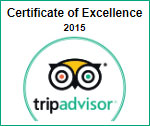 tripadvisor certificate of excellence 2015 -