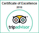 tripadvisor certificate of excellence 2016 -